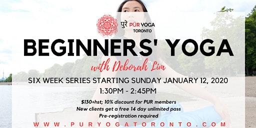 Beginners' Yoga @ PUR YOGA Toronto