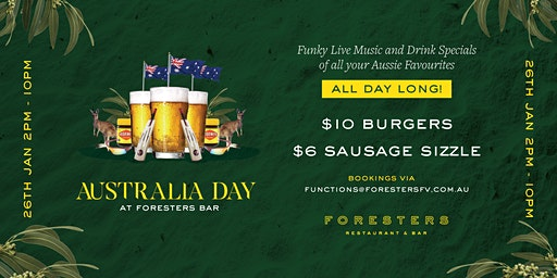 AUSTRALIA DAY at FORESTERS FV