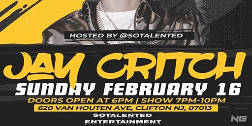 Jay Critch Live New Jersey February 16th