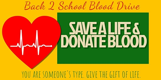 BACK 2 SCHOOL BLOOD DRIVE