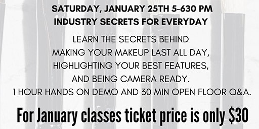 1/25 5PM Industry Secrets for Everyday Class