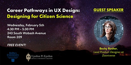 Career Pathways in UX Design: Designing for Citizen Science tickets