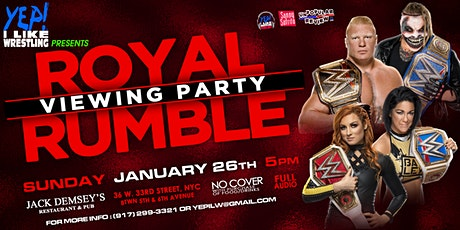 WWE Royal Rumble Viewing Party at Jack Demsey's tickets