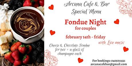 Valentine`'s Fondue Night tickets
