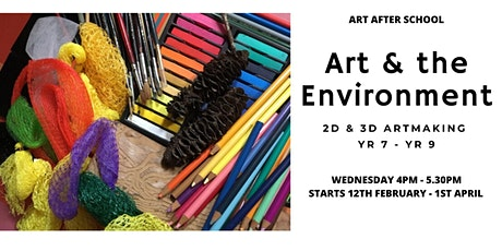 Art & the Environment in 2D & 3D Art for Yr. 7 - Yr. 9 tickets