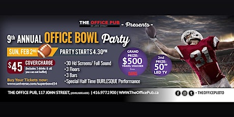 SUPER BOWL LIV at The Office Pub on John Street tickets