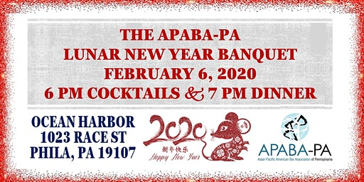 APABA-PA's Lunar New Year Banquet, February 6, 2020