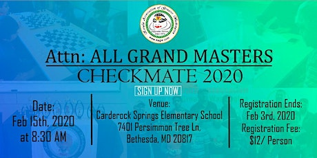 Kerala Association Of Greater Washington Checkmate 2020 tickets