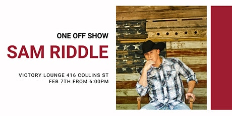 Sam Riddle LIVE - One off Show! tickets