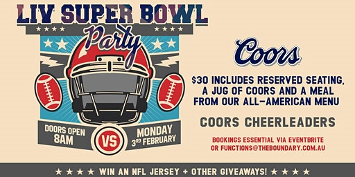 VIP Seating for Superbowl LIV Tailgate Party at The Boundary