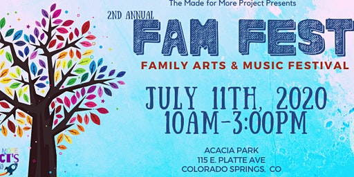 2nd Annual FAM Fest (Family Arts and Music Festival)
