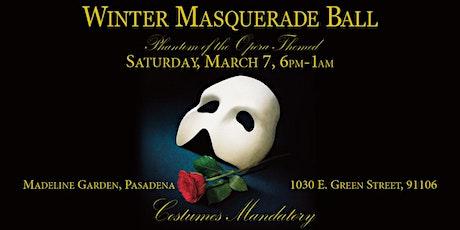 Winter Masquerade Ball - Phantom of the Opera-themed tickets