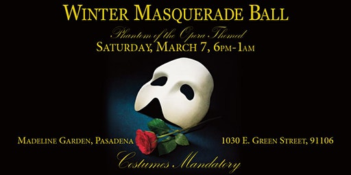 Winter Masquerade Ball - Phantom of the Opera-themed