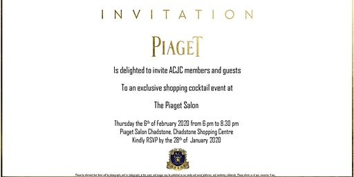 Piaget Exclusive Shopping Cocktail