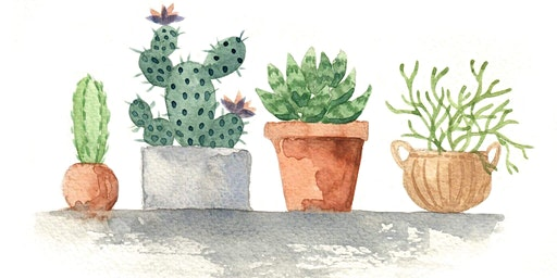 Watercolour Cacti Workshop with Sweet Afton