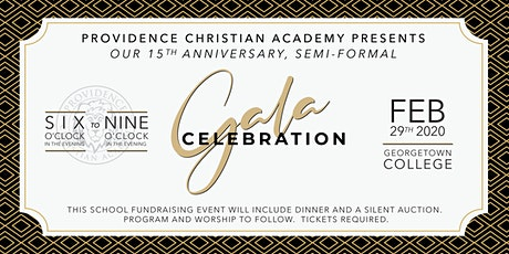 PCA 15th Year Anniversary Gala Celebration tickets