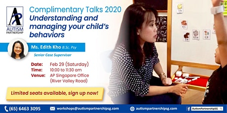 [POSTPONED] Free Talk: Understanding and managing your child's behaviors tickets