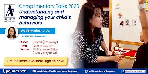 [POSTPONED] Free Talk: Understanding and managing your child's behaviors