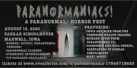 PARANORMANIACS!  A Paranormal/ Horror Fest tickets