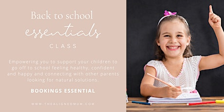 Back to school support workshop with essential oils make and take tickets