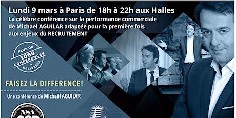 """Conférence  MICHAEL AGUILAR : """"FAISEZ LA DIFFERENCE"""" adaptée aux enjeux RH billets"""