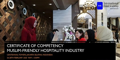 Certificate of Competency Muslim-Friendly Hospitality Industry tickets