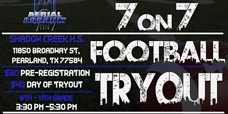 Aerial Assault Football Final 7 on 7 Tryouts- 1/18 & 1/25 tickets