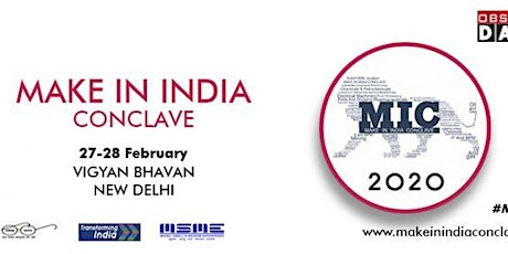 Make in India Conclave tickets