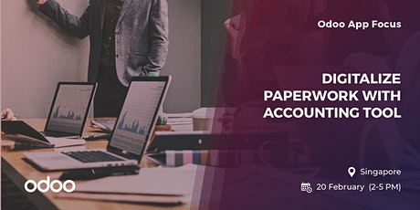 Odoo App Focus Singapore: Digitalize paperwork with Accounting tool tickets