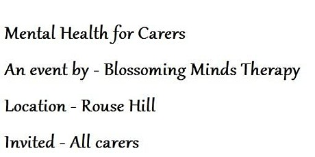 Mental Health for Carers tickets
