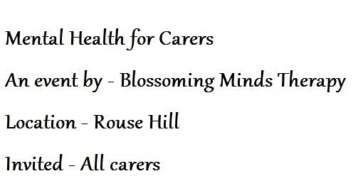 Mental Health for Carers