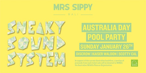 Australia Day Pool Party with Sneaky Sound System
