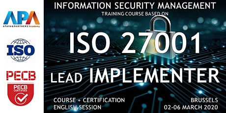ISO/IEC 27001 Lead Implementer Course and Certification tickets