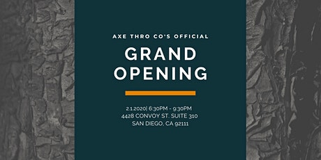 San Diego's Newest, Axe Throwing--Axe Thro Co's Grand Opening! tickets