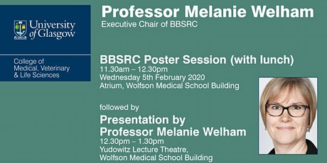 Presentation by Professor Melanie Welham & BBSRC Poster Session tickets