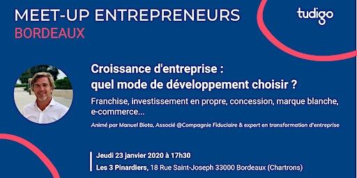Meetup entrepreneurs -  Quel mode de développement d'entreprise choisir  ?