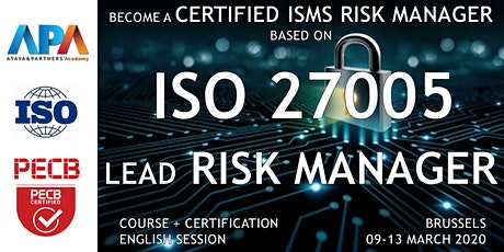 ISO/IEC 27005 Lead Risk Manager Course and Certification billets