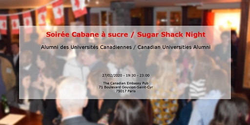 "Soirée Cabane à Sucre | ""Sugar Shack Night"" with Canadian University Alumni"