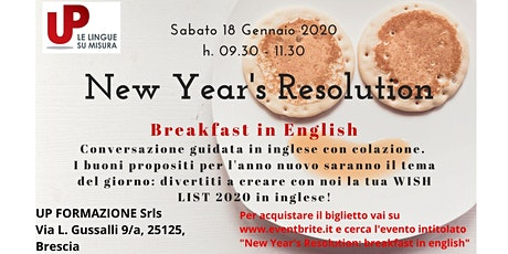 New Year's Resolution: breakfast in english biglietti