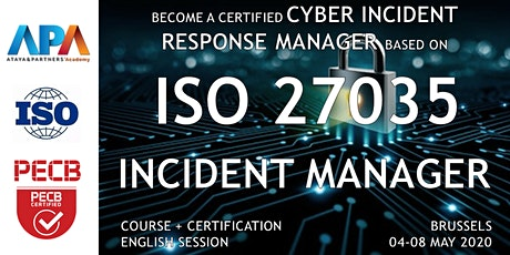 ISO/IEC 27035 Security incident management Course and Certification tickets