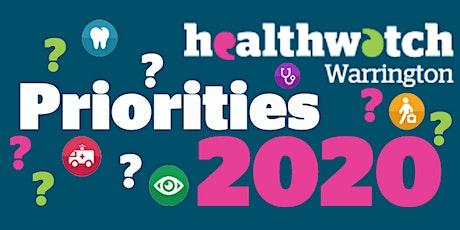 Healthwatch Warrington Priorities Workshop tickets