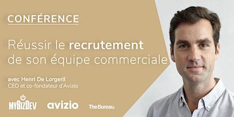 Conférence - Réussir le recrutement de son équipe commerciale billets