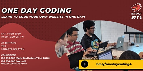 ONE DAY CODING: Learn to Code Your Own Website in One Day [PAID CLASS] tickets