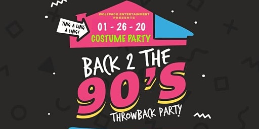 Back To The 90's Throwback Comtume Party Reggae Afrobaet Soca Hip Hop R&B.