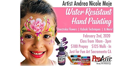 Water Resistant Hand Painting for Face Painters tickets