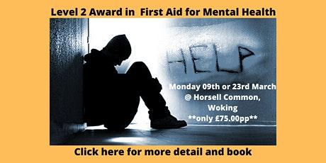Level 2 Award in First Aid for Mental Health tickets