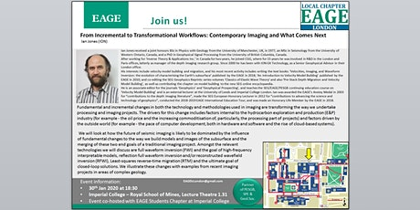 EAGE London Evening Talk: From Incremental to Transformational Workflows: Contemporary Imaging and What Comes Next tickets