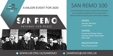 San Remo Centenary Event, London tickets