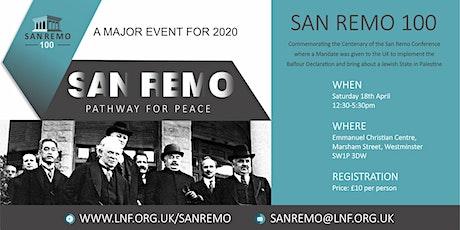 San Remo Centenary Event, London tickets