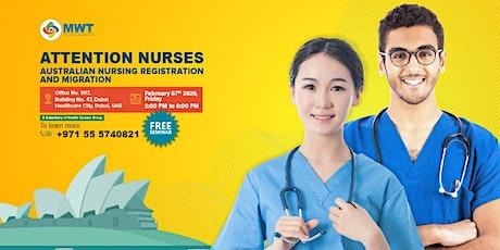 Free Seminar on Australian Nursing Registration and Migration tickets